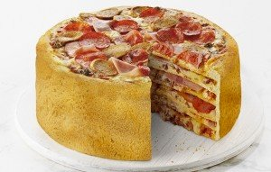 pizza cake from boston pizza