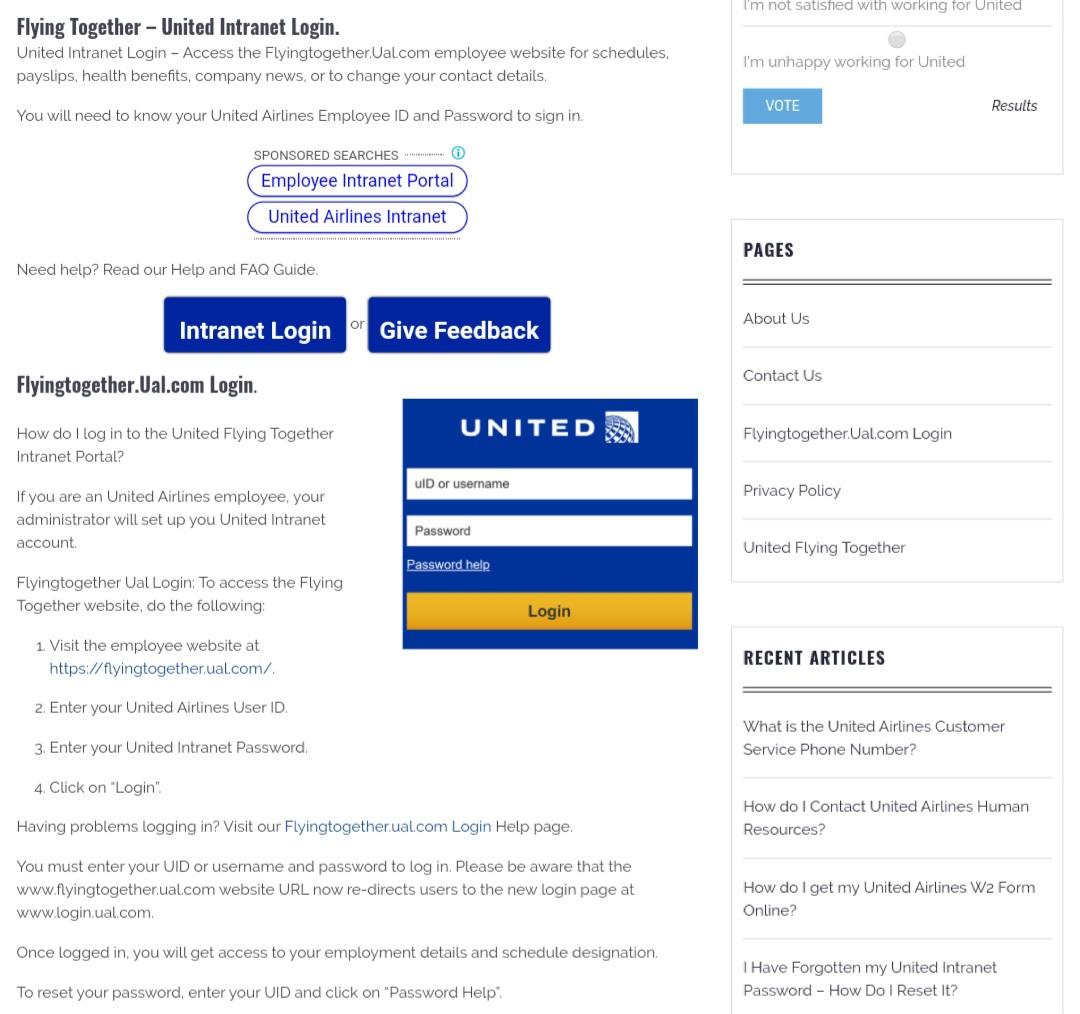 flyingtogether.ual.com login