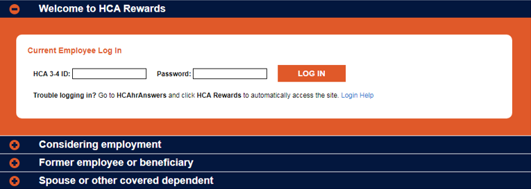 bconnected hca login