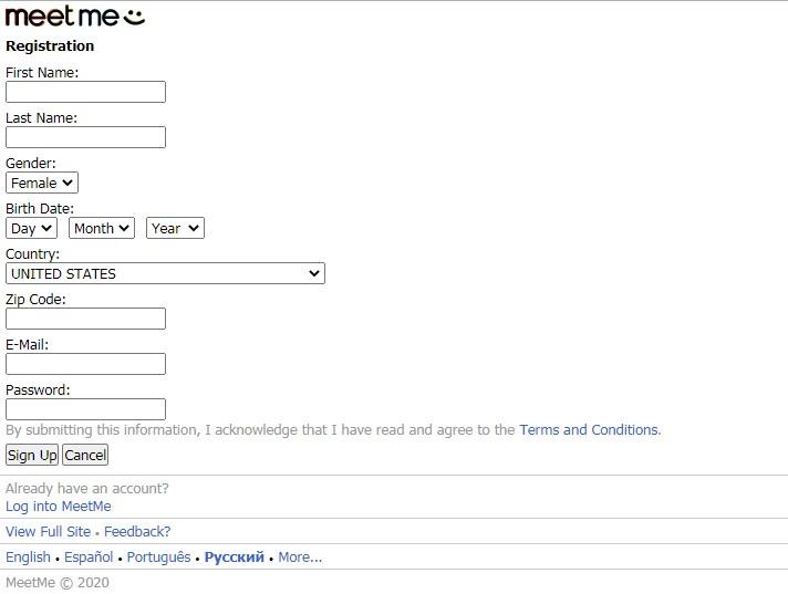 Meetme mobile site login