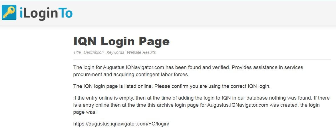 augustus iqnavigator com