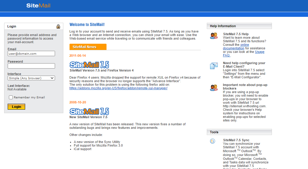 sitemail 7.5