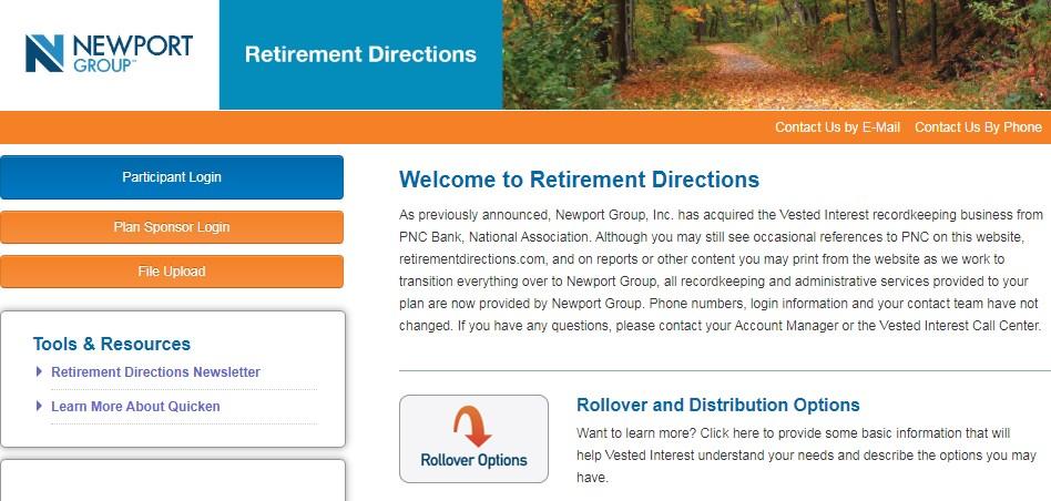 pnc retirement directions